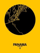 NAXART Studio - Panama Street Map Yellow