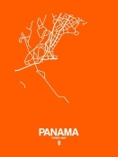 NAXART Studio - Panama Street Map Orange