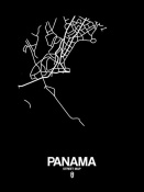 NAXART Studio - Panama Street Map Black