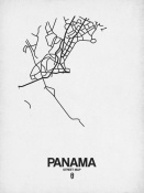 NAXART Studio - Panama Street Map White