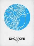 NAXART Studio - Singapore Street Map Blue