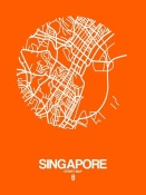 NAXART Studio - Singapore Street Map Orange