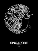 NAXART Studio - Singapore Street Map Black