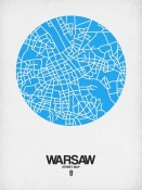 NAXART Studio - Warsaw Street Map Blue