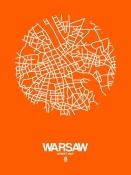 NAXART Studio - Warsaw Street Map Orange