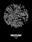 NAXART Studio - Warsaw Street Map Black