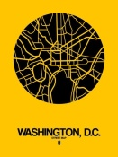 NAXART Studio - Washington,D.C.  Street Map Yellow