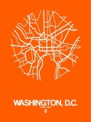 NAXART Studio - Washington,D.C.  Street Map Orange