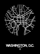 NAXART Studio - Washington,D.C.  Street Map Black