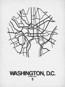 NAXART Studio - Washington,D.C.  Street Map White