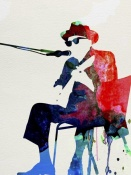 NAXART Studio - Johnny Lee Hooker Watercolor