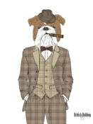 NAXART Studio - British Bulldog In Tweed Suit