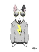 NAXART Studio - Bull Terrier in City Style