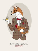 NAXART Studio - Fox Man In Pin Suit