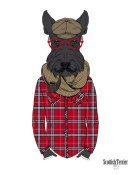 NAXART Studio - Scottish Terrier In Pin Plaid Shirt