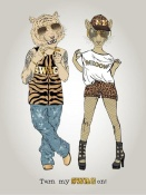 NAXART Studio - Tiger And Leopard In Swag Style