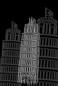 NAXART Studio - Tower of Pisa Night