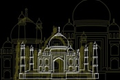 NAXART Studio - Taj Mahal Night