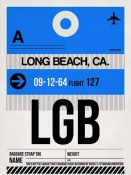 NAXART Studio - LGB Long Beach Luggage Tag I