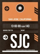 NAXART Studio - SJC San Jose Luggage Tag II