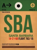 NAXART Studio - SBA Santa Barbara Luggage Tag I
