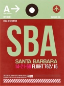 NAXART Studio - SBA Santa Barbara Luggage Tag II
