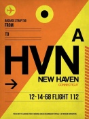 NAXART Studio - HVN New Haven Luggage Tag I