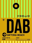 NAXART Studio - DAB Daytona Beach Luggage Tag I