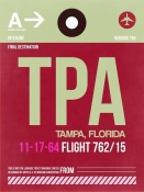 NAXART Studio - TPA Tampa Luggage Tag II