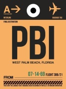 NAXART Studio - PBI West Palm Beach Luggage Tag I