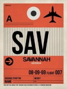 NAXART Studio - SAV Savannah Luggage Tag I