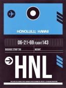 NAXART Studio - HNL Honolulu Luggage Tag II