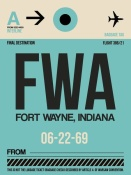 NAXART Studio - FWA Fort Wayne Luggage Tag I