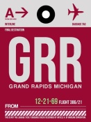 NAXART Studio - GRR Grand Rapids Luggage Tag II