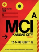 NAXART Studio - MCI Kansas City Luggage tag I