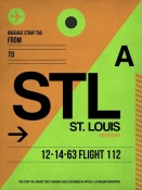 NAXART Studio - STL St. Louis Luggage Tag I