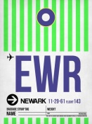 NAXART Studio - EWR Newark Luggage Tag I