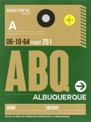 NAXART Studio - ABQ Albuquerque Luggage Tag I