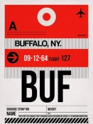 NAXART Studio - BUF Buffalo Luggage Tag I