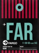 NAXART Studio - FAR Fargo Luggage Tag I