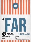 NAXART Studio - FAR Fargo Luggage Tag II