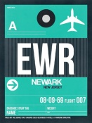 NAXART Studio - EWR Newark Luggage Tag II