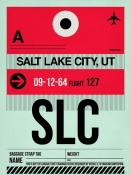 NAXART Studio - SLC Salt Lake City Luggage Tag I