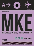NAXART Studio - MKE Milwaukee Luggage Tag I