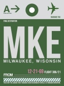 NAXART Studio - MKE Milwaukee Luggage Tag II