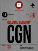 NAXART Studio - CGN Cologne Luggage Tag I