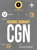 NAXART Studio - CGN Cologne Luggage Tag II