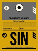 NAXART Studio - SIN Singapore Luggage Tag I