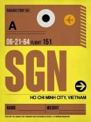 NAXART Studio - SGN Ho Chi Minh City Luggage Tag I