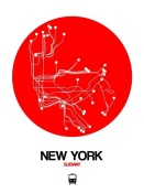 NAXART Studio - New York Red Subway Map